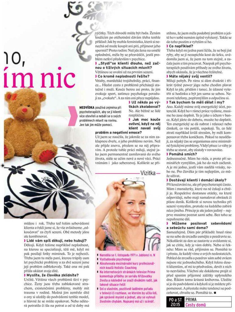 Můžu všechno a nemusím nic (Týdeník Televize, leden 2014)
